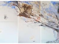 composizione unitaria dei tre pannelli  Agosto2014 160X 240 cm